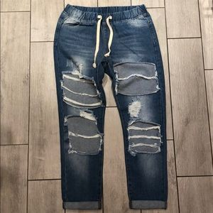 American Bazi distressed jeans-Small